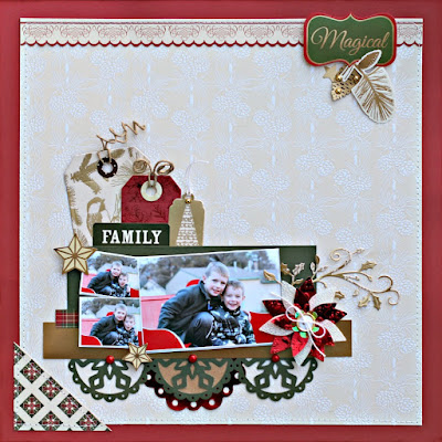 Family Holiday Page featuring Glimmering Boughs by SEI designed by Rhonda Van Ginkel