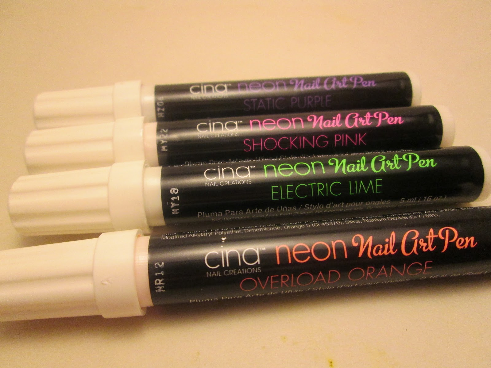 Pretty Polished Pointers: Cina Nail Creations Neon Nail Art Pens ...