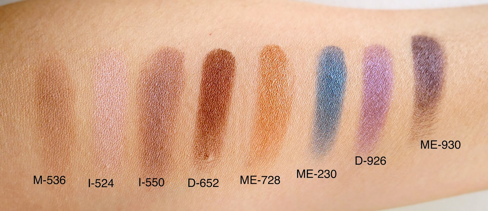 Make Up For Ever Artist Palette looks swatch
