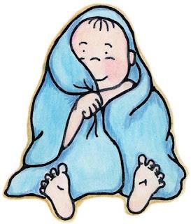 Dibujo de bebe recien duchado para imprimir
