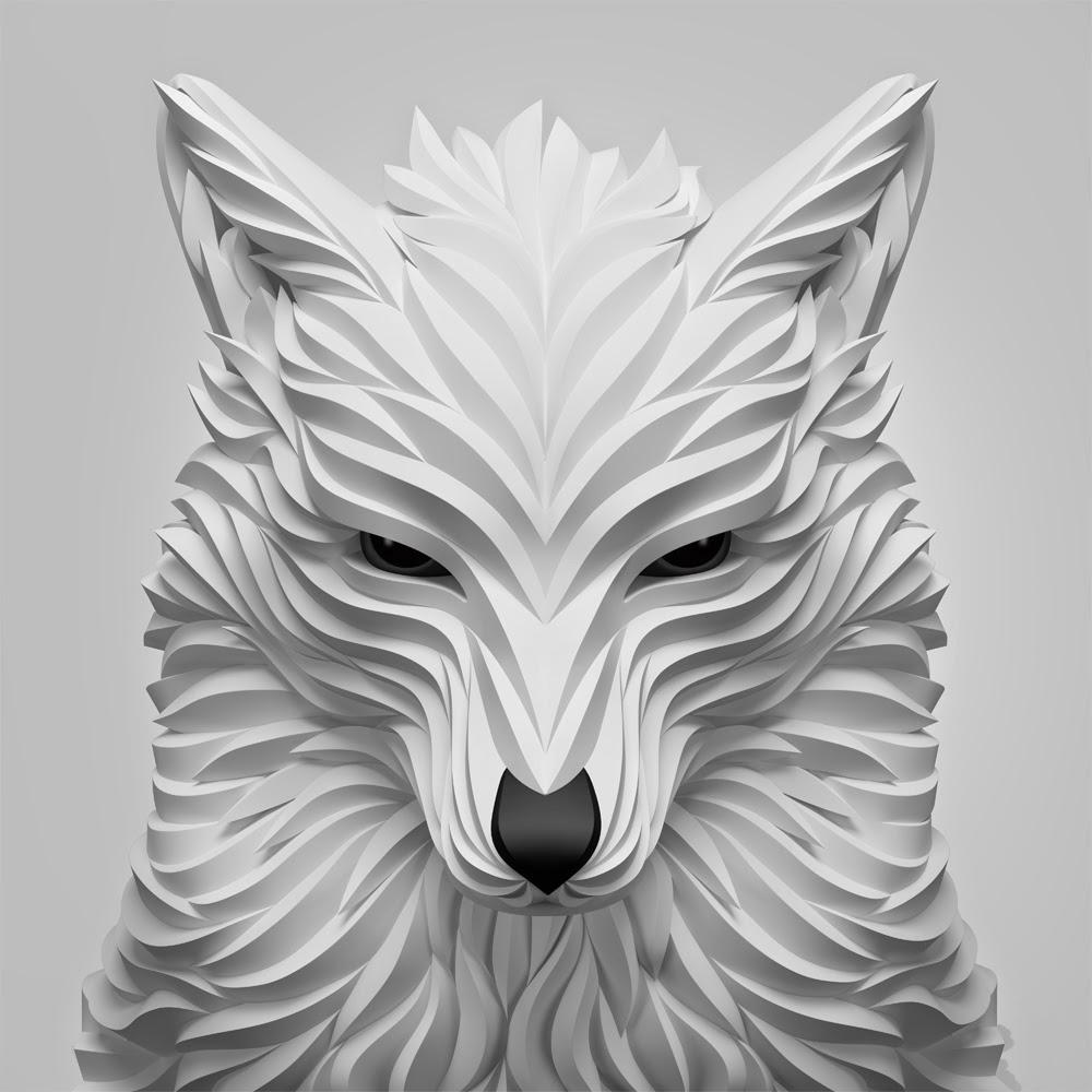 10-White-Wolf-Maxim-Shkret-Digital-Origami-Animal-Art-www-designstack-co