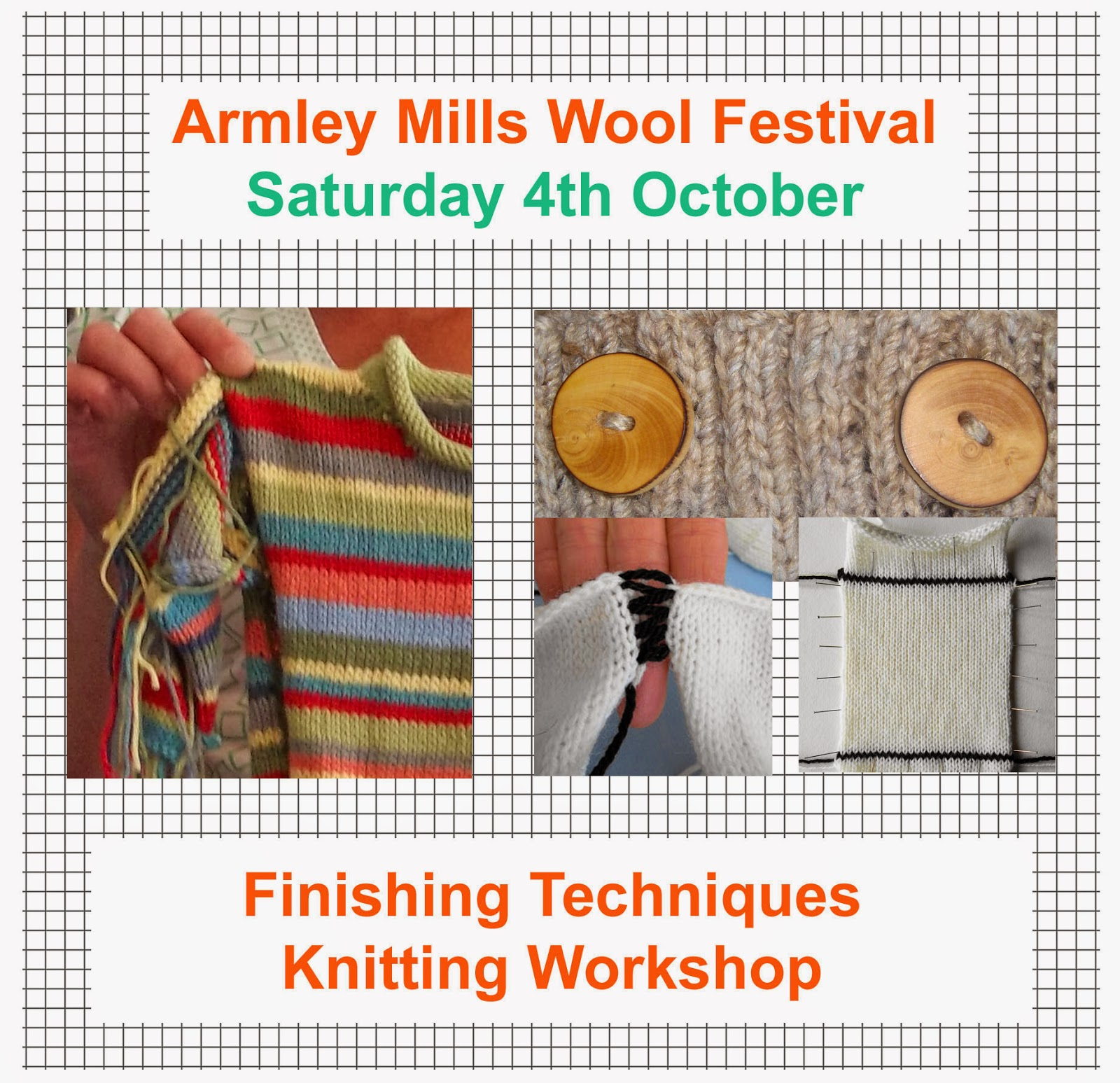 Knitting Techniques Finishing : The design studio knitting events and workshops