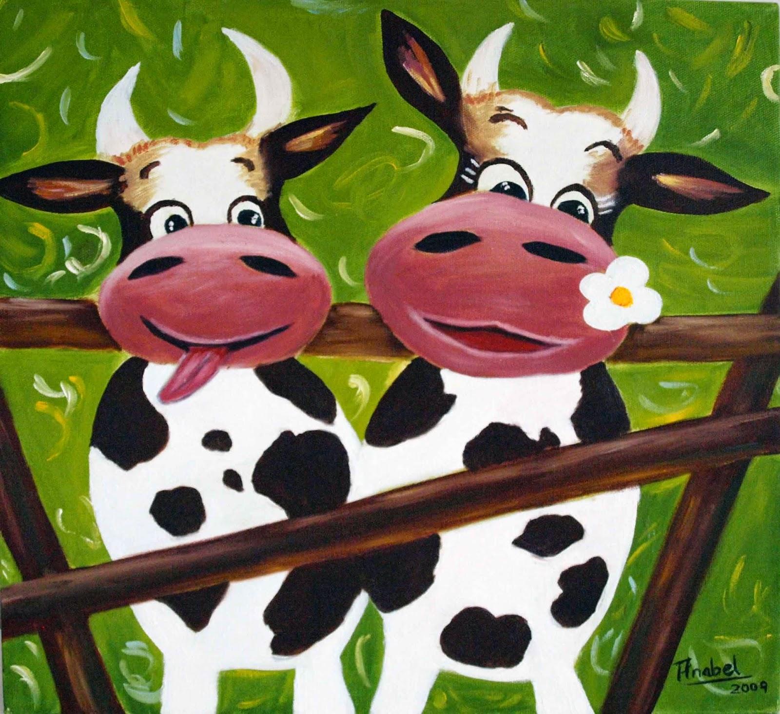 Anabel y sus cuadros graciosas vacas - Cuadros de vacas ...
