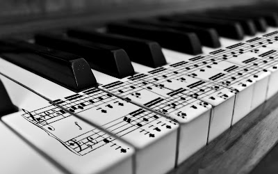 Piano Keyboard Close Up Black and White Photography HD Desktop Wallpaper