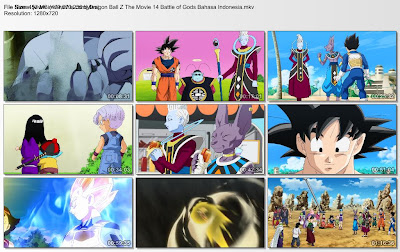 Download Film / Anime Dragon Ball Z Movie 14 (Battle of Gods) Bahasa Indonesia