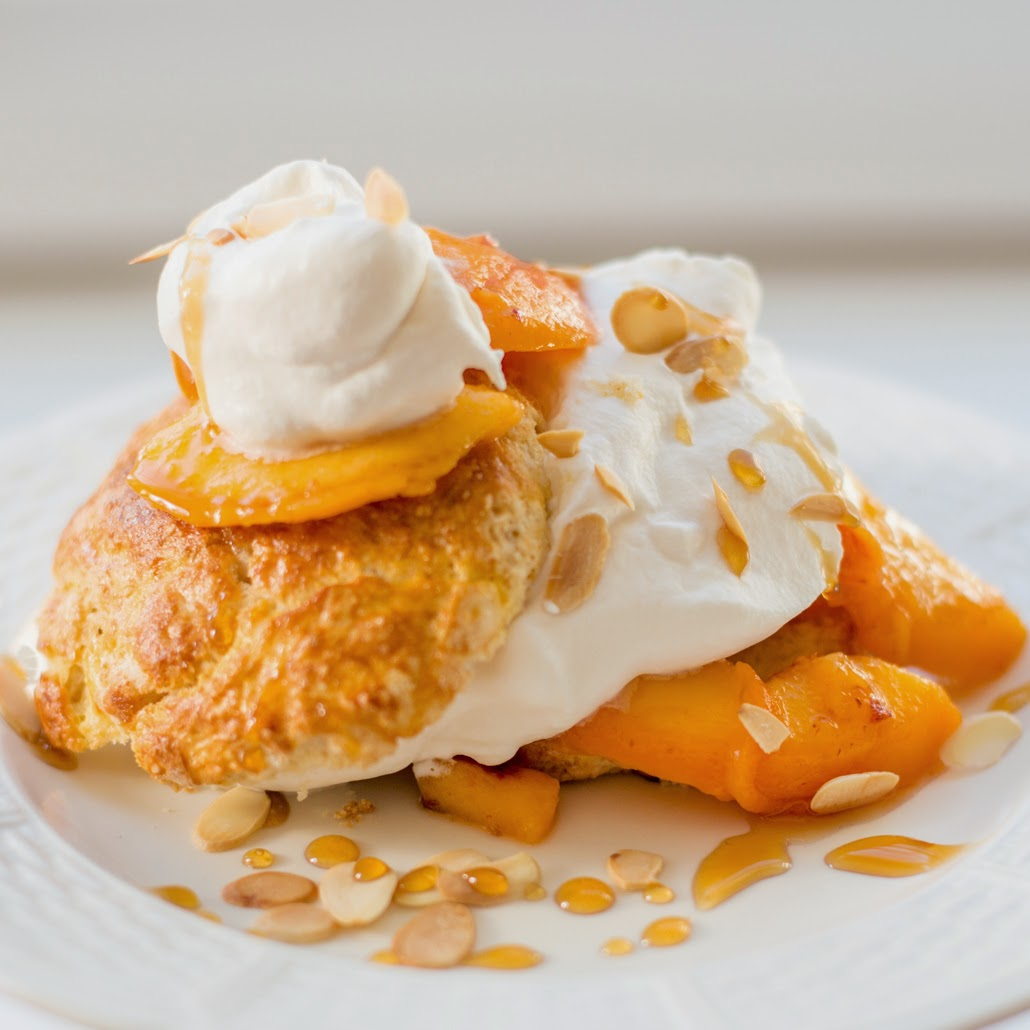 Straight to the Hips, Baby: Peach Shortcake with Honeyed Whipped Cream