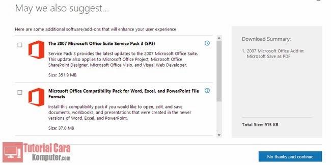 Cara Mengubah File DOC (Word) Menjadi PDF Tanpa Aplikasi di Word 2007 - TutorialCaraKomputer.com