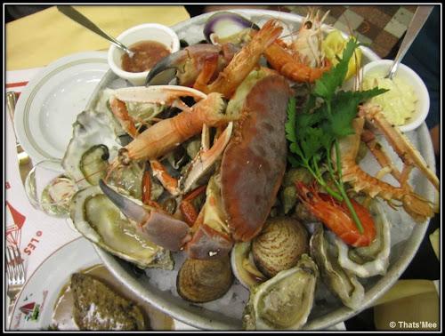 Brasserie Les Vapeurs Trouville plateau fruits mer