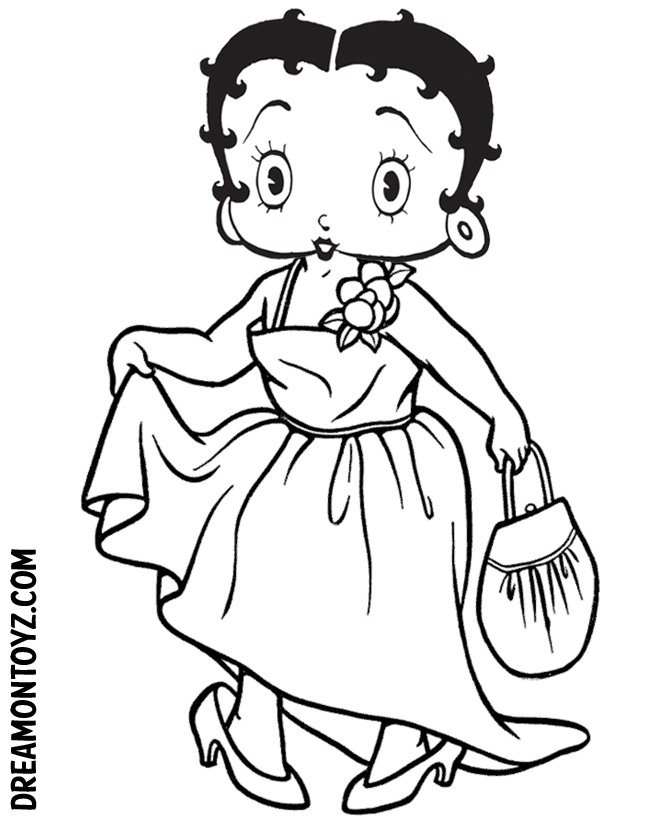 betty bop coloring pages - photo#24