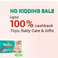 ( Live at 1 PM to 4 PM) PayTM : Buy Baby Care Products with 100% cashback From 11:00 AM