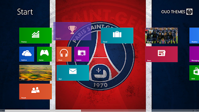 Paris Saint Germain 2013 Theme For Windows 8