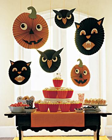 Adornos colgantes papel (decoracion Halloween)