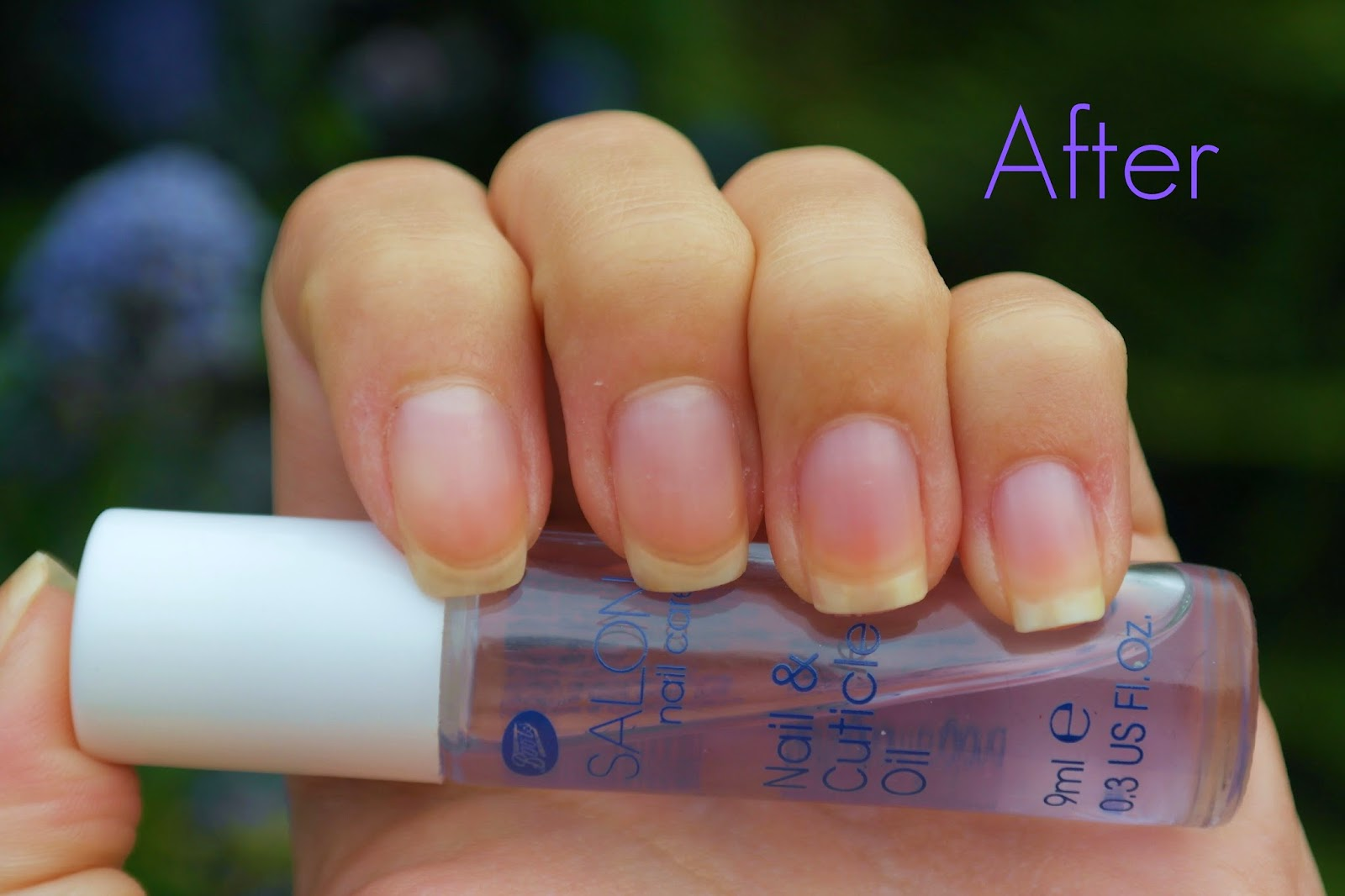 Sally Hansen instant cuticle remover after result