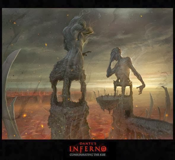 Hugo Martin illustrations conceptual arts movies games fantasy science fiction Dante's Inferno (game)