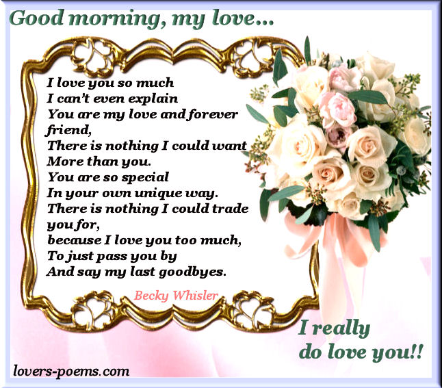 Good Morning Love You Wallpaper : Good morning love you mobile wallpapers