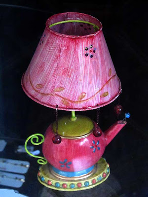A colorful teapot lamp, Livorno