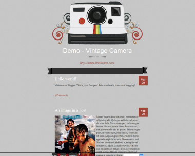Vinatage Camera Blogger Template