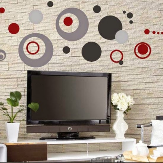 added to these one can opt for balloons decal walls polka dots walls dcor and also star decors and other sorts of simple shapes which are easily - Simple Shapes Wall Design