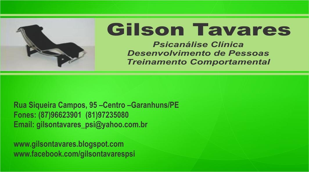 Gilson Tavares - Psicanálise Clínica