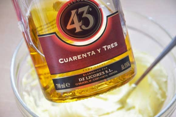 Ruches taart met Licor 43 creme