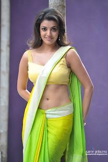 actress light box kajal agarwal hot navel in saree