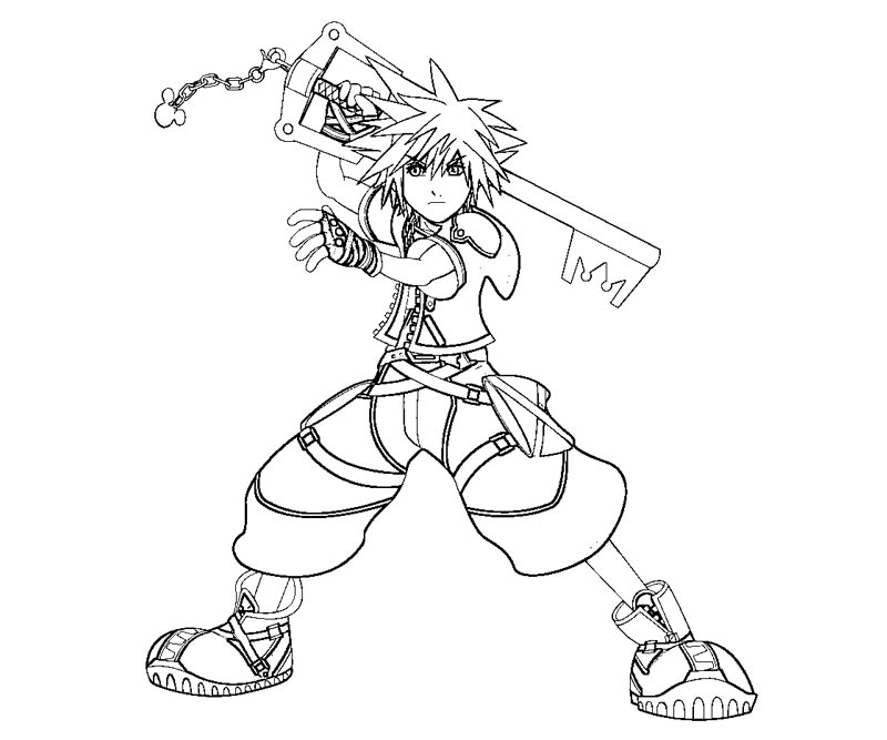 kingdom hearts 2 coloring pages free coloring pages - Coloring Pages Hearts 2