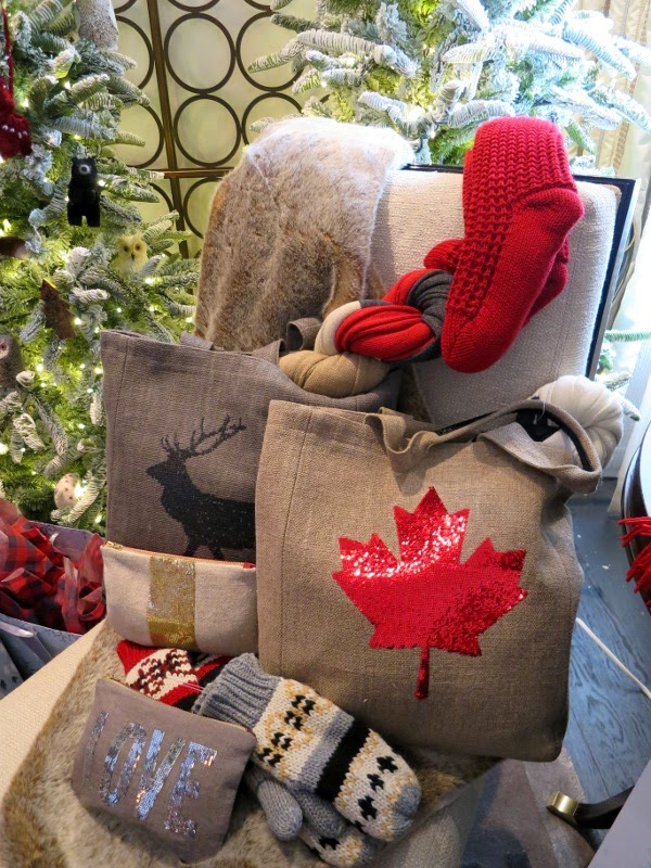 Christmas gift ideas: Canadiana totes, sequinned makeup bags, and cozy knits