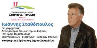 Γιάννης Σταθόπουλος υποψήφιος δημοτικός σύμβουλος Δήμου Χαλκιδέων