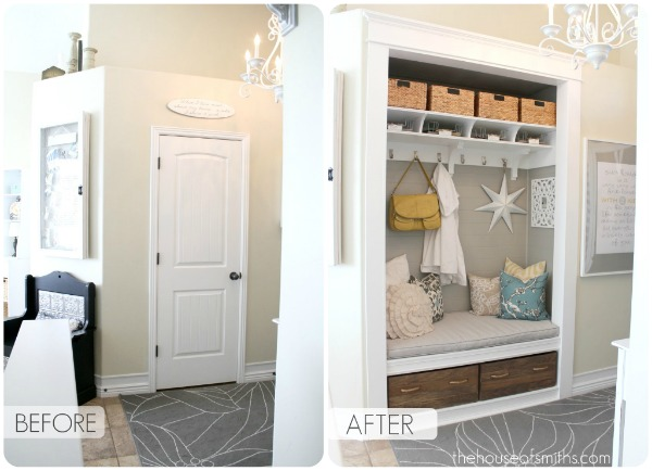 Small Foyer With Closet : Entryway closet transformation kids art decorating ideas