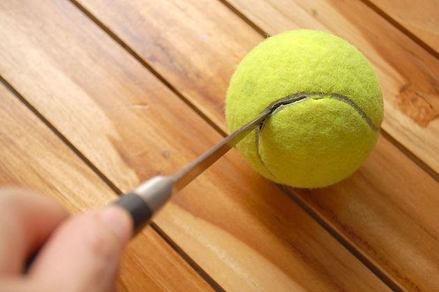 Hacer un títere con una pelota de tenis