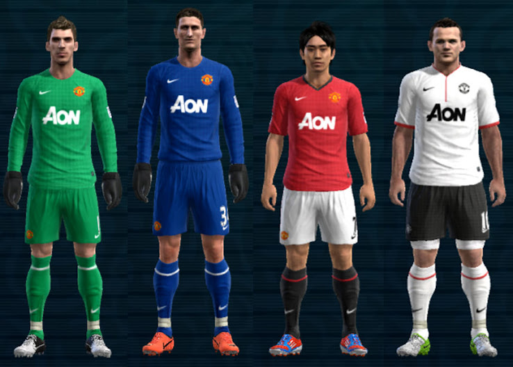 PES 2012 Manchester United 12 13 Kit Set by Ramz