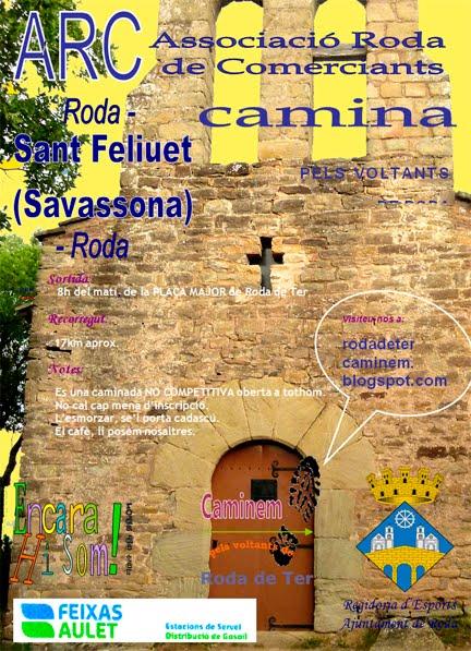 7a CAMINADA PELS VOLTANTS DE RODA:  3 de Juliol -Sant Feliuet.