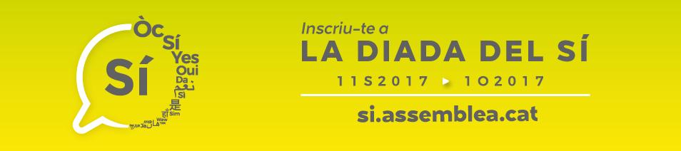 Inscriu-te a LA DIADA DEL SÍ - 11S2017