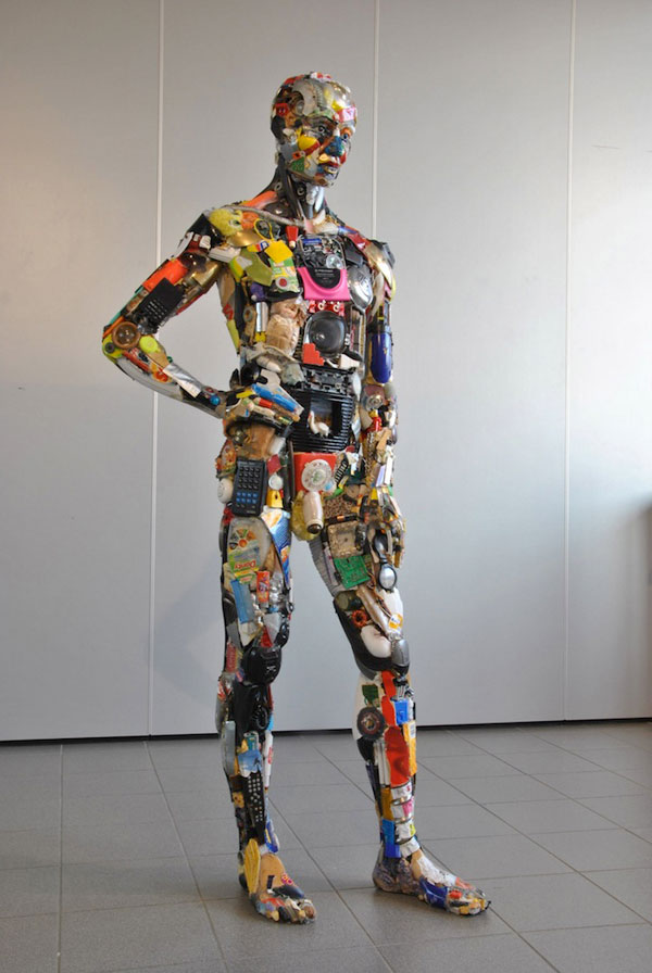 How to recycle amazing junk art sculptures made from for Waste material object