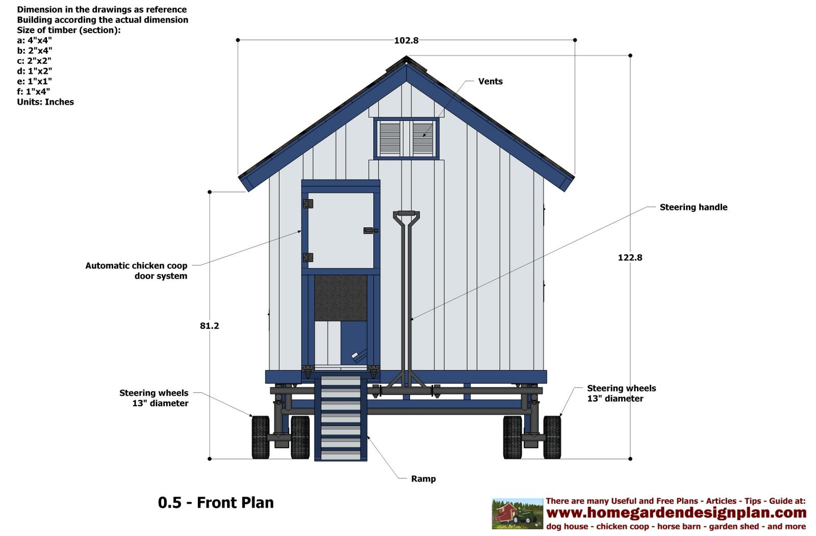 Home Garden Plans T300 Full Options Free Chicken Coop