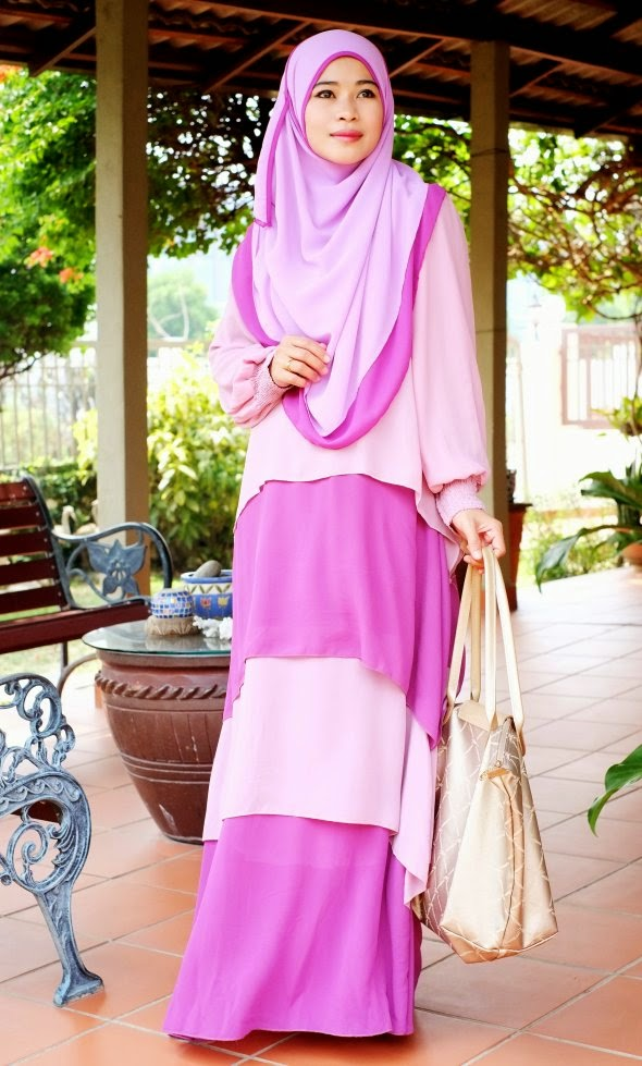 Dress Labuh Lolipop Purple