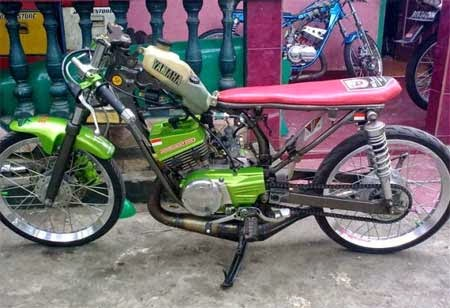 Foto Modifikasi RX King ala Motor Drag Terbaru 2015