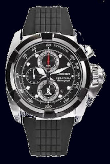 Seiko Velatura Alarm Chronograph Rubber Men Watches SNAA93P2