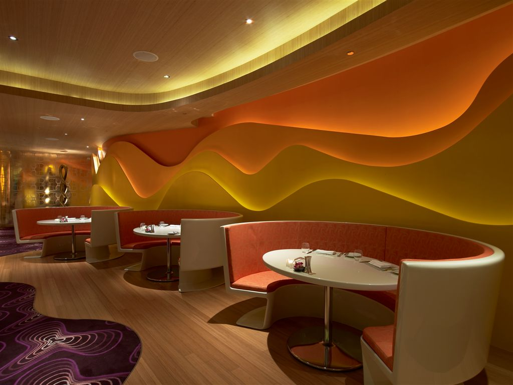 Braxton and yancey fantastic modern night clubs bars for Best color for restaurant interior