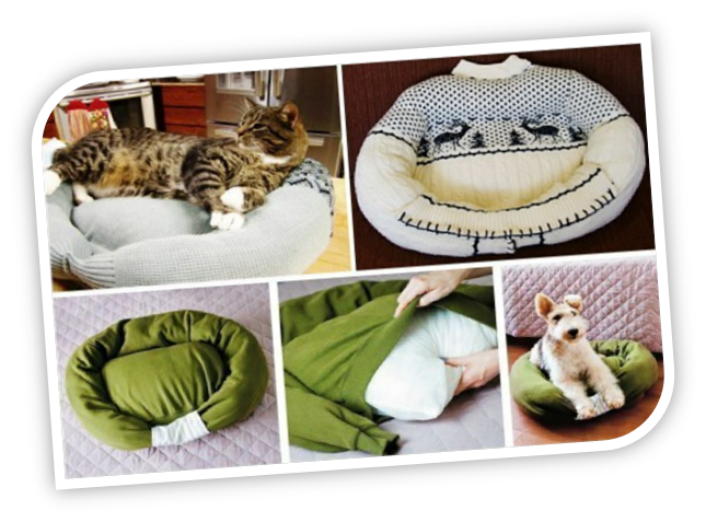 Como hacer una cama para perro tattoo design bild - Camas para gatos ...