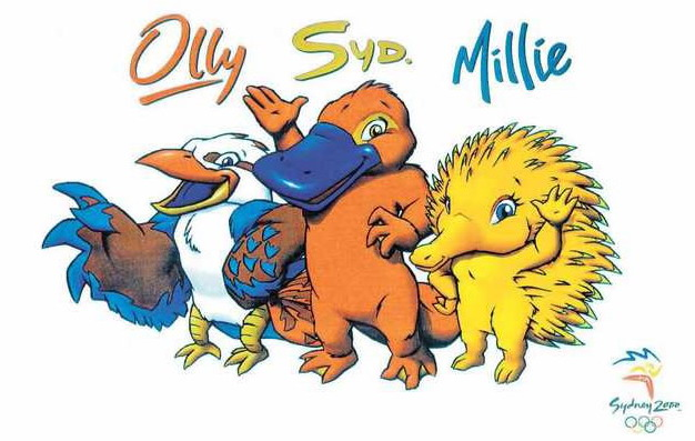 Ollie, Syd and Millie the mascot Olympic Games in Sydney