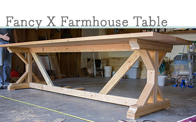 DIY Fancy X farmhouse table