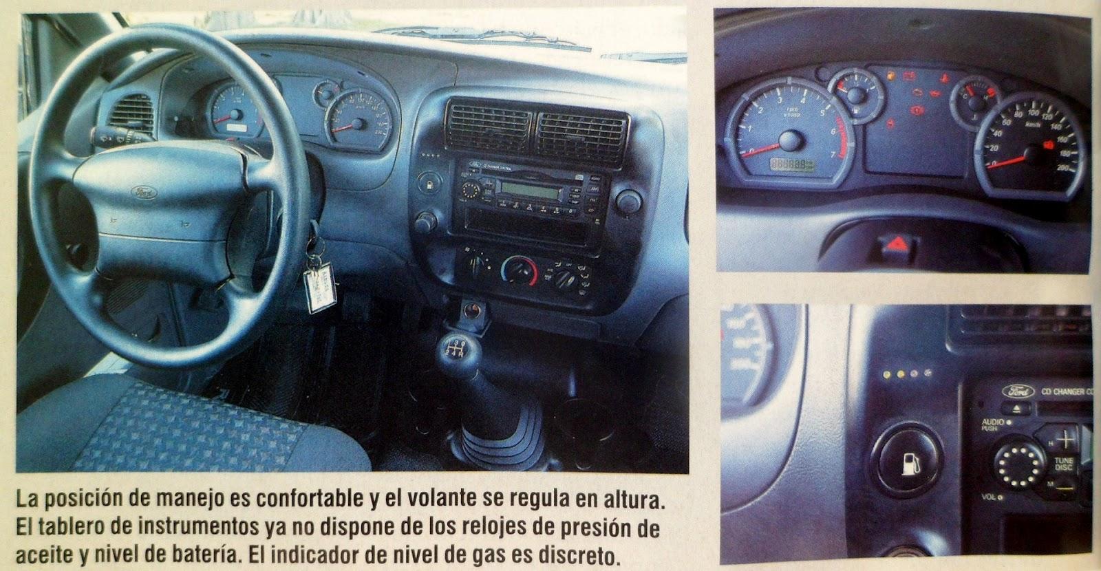 Interior tablero ford ranger 2 3 gnc