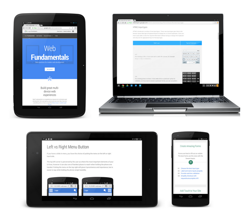 Web Starter Kit, Google helps developers, to create responsive websites, suitable sites, variety of devices, websites adaptable, Boilerplate, Tooling for Multi-Device Development, software,