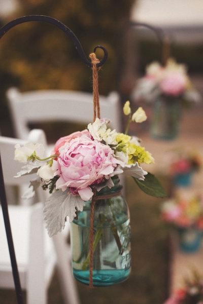 Mason Jar Wedding Centerpieces 24 Simple I used the following
