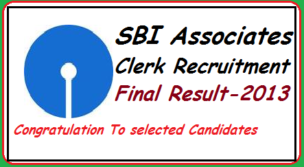sbi associates, sbi.co.in, sbi associates clerk recruitment final result