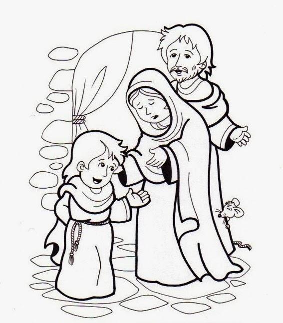 Imagenes Cristianas Para Colorear: Jesus En El Templo Para Colorear