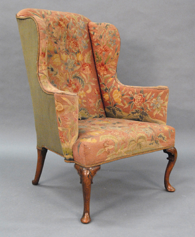 A 1750u0027s Chair With Later 1800u0027s Needlepoint. Notice The Background Color  Is Different From The Other Examples. Not Liking That. At Auction.