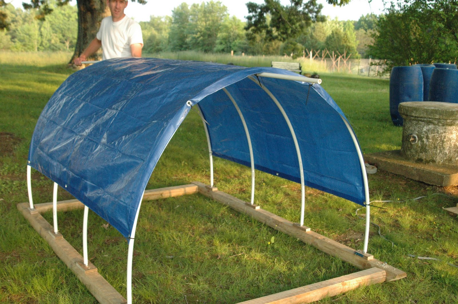 Pvc Boat Shelter : Green legacy farm moooovin along portable calf shelter