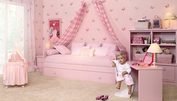 Dormitorio con cama individual for Cuartos para nina de 3 anos